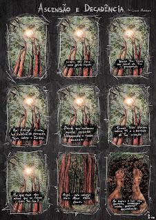 """""""Ascensão & Decadência"""". Técnica Mista (Nankin, Aquarela e Photoshop). 2012"""