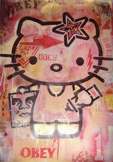 Hello Kitty graffiti