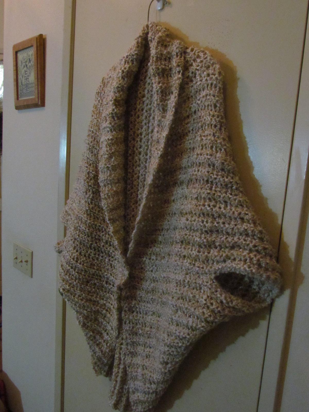 Jacqueline\'s Stitching & Musings: Simple Shrug Finished...