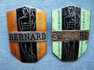 BERNARD calandre radiator emblem badge vintage camion