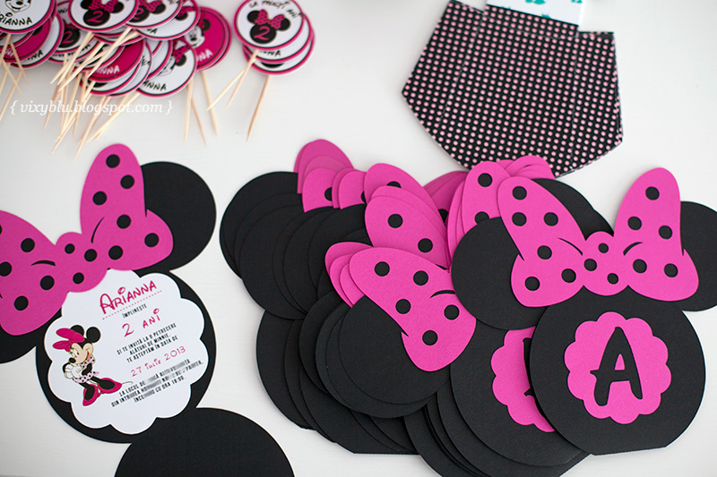 invitatie Minnie, Minnie Mouse, invitatie handmade copii
