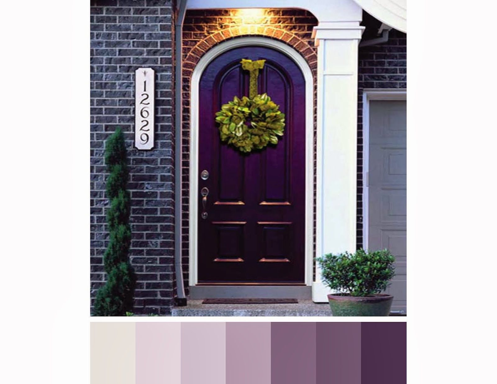 1237 #7E6F2F  Roses Are Red Violets Are Blue What Front Door Color Screams You wallpaper Purple Front Doors 47051600