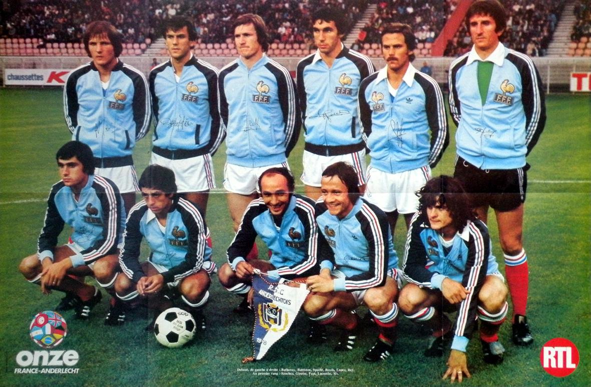 France anderlecht 1978 the vintage football club for 78 en france