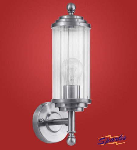 Buckingham Wall Lantern in Stainless Steel