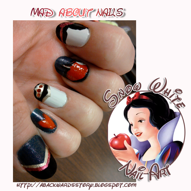 Snow White Nails: {Mad About Nails} Snow White Nail Art