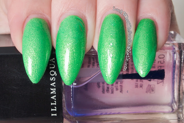 Illamasqua Paranormal Omen Geist nail polish collection swatch UV glow