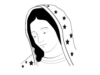 Senhora Guadalupe colorir
