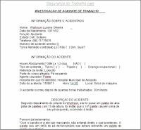 Ficha de Investigação de Acidente - Downloa