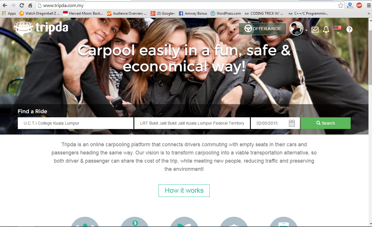 My first experience using Tripda Carpooling in Malaysia
