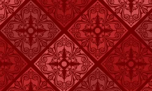 Humidor Red Pattern