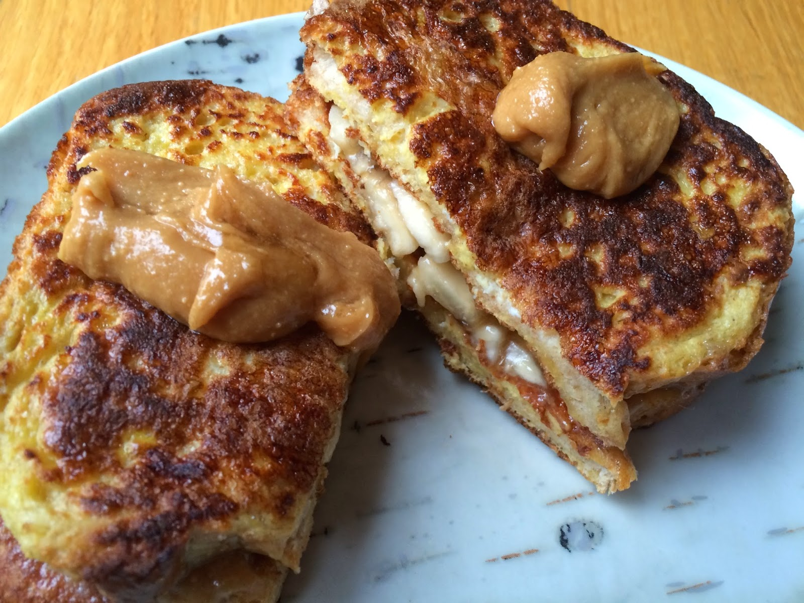 Clean Eating Peanut Butter Banana French Toast