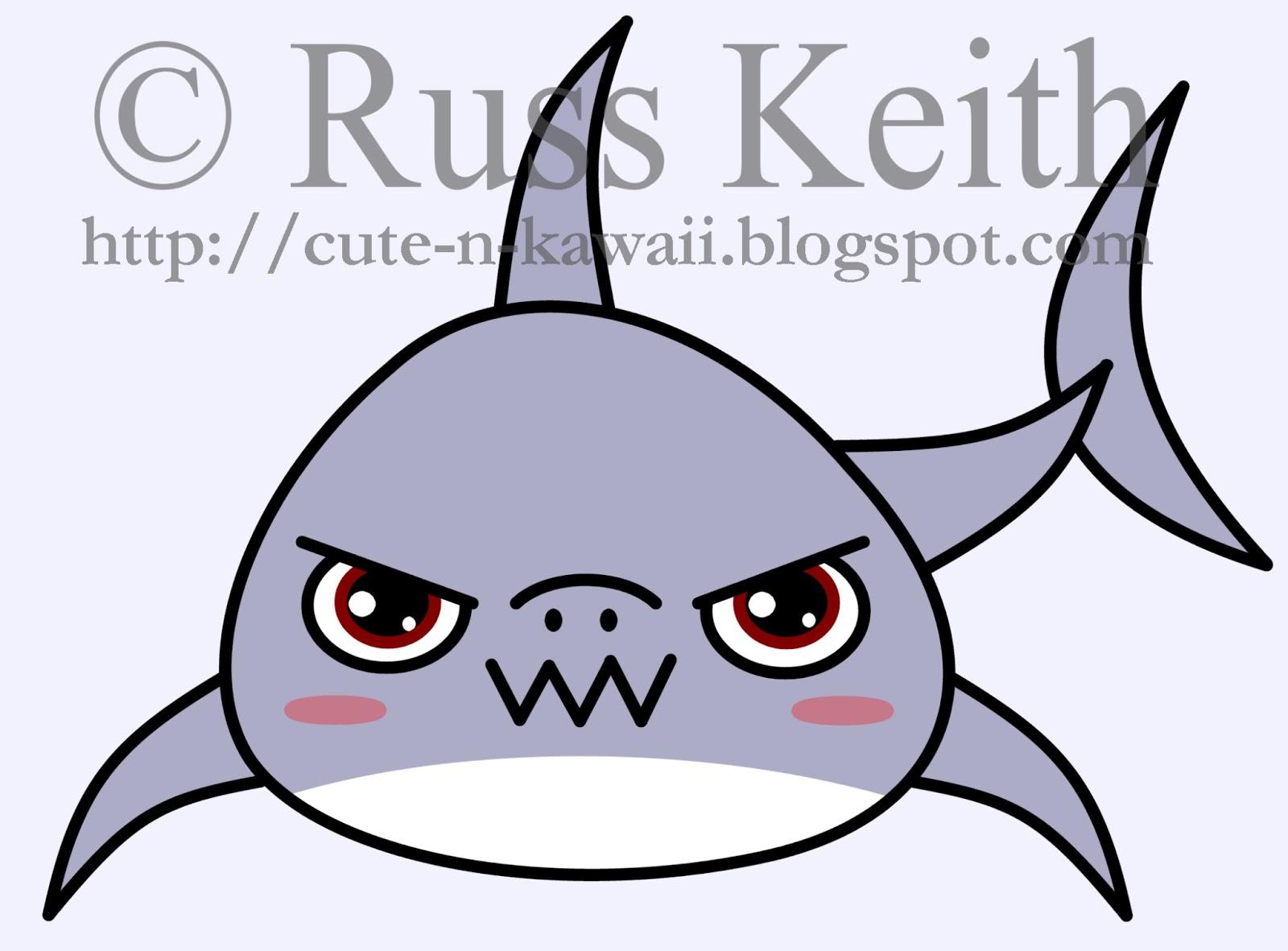 cute n kawaii how to draw a kawaii shark