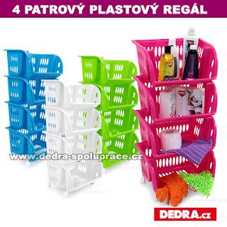 plastové regály