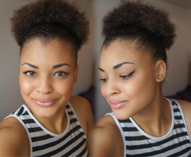 Natural Afro Hair 4b Afro Puff Mixed Race Biracial