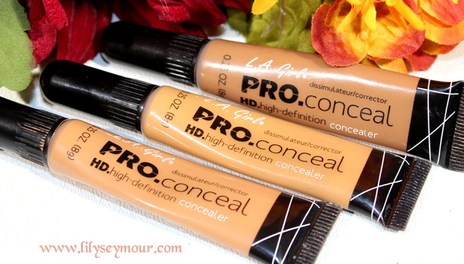 LA Girl Pro Concealers in Toffee, Fawn & Toast