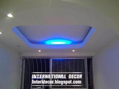 gypsum ceiling design blue ceiling lighting decoration Gypsum ceilings designs with blue ceiling lighting ideas