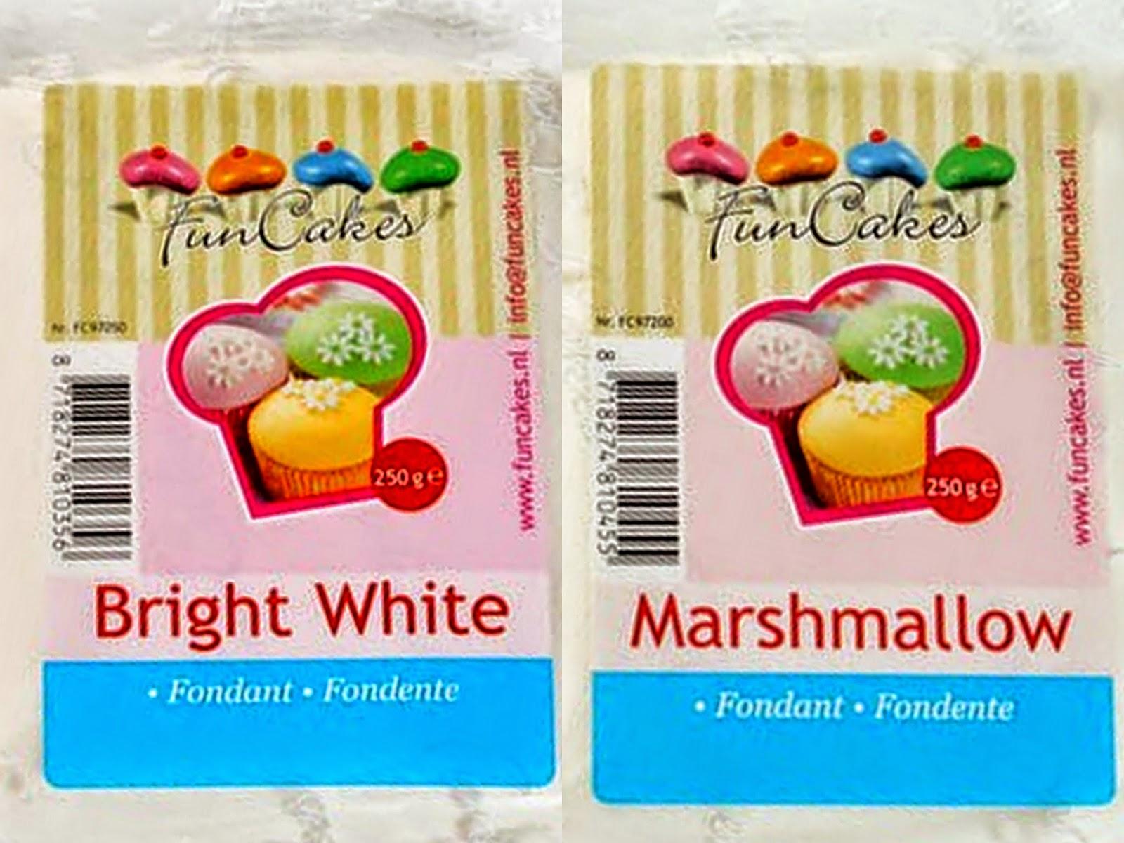 Funcakes Fondant Bright White Vs Marshmallow