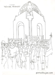 Workers day coloring pages