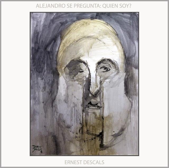 ALEJANDRO MAGNO-PINTURA-ARTE-PREGUNTAS-DUDAS-EXISTENCIALES-REY-MACEDONIA-EXPRESION--RETRATO-ARTISTA-PINTOR-ERNEST DESCALS-