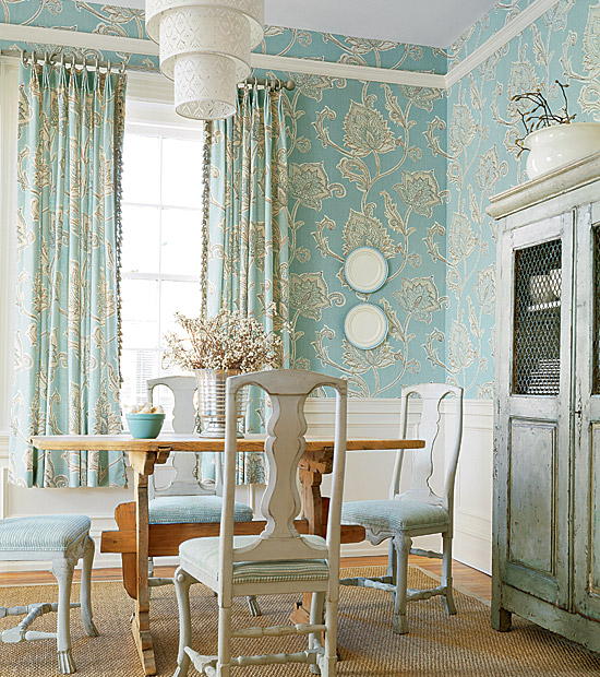 Although matching wallpaper and fabric was essentially a turn of the century trend as in victorian era not y2k it seems it might be making a comeback