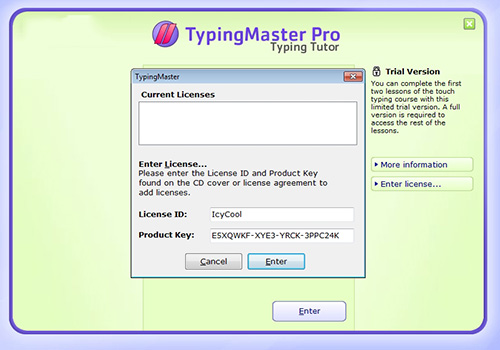 typing master pro with serial key