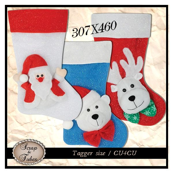 Cute Christmas Stockings (CU4CU) .Cute+Christmas+Stocking_Preview_Scrap+and+Tubes