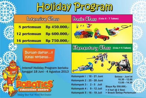 Holiday Program Robotics Education Center