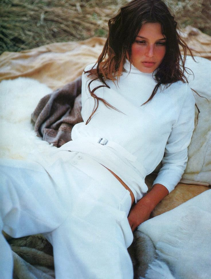 Bridget Hall by Tom Munro Vogue UK, August 1998
