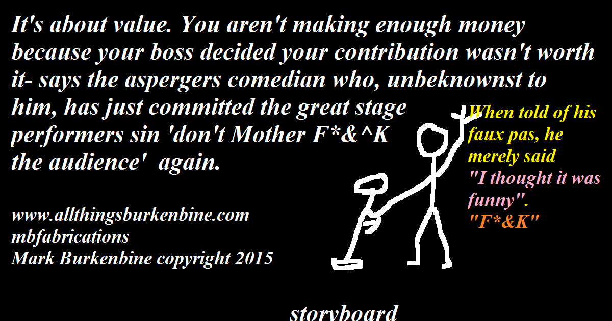 Storyboard. The Aspergers Comedian