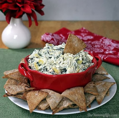 Slow Cooker Healthy Spinach Artichoke Dip