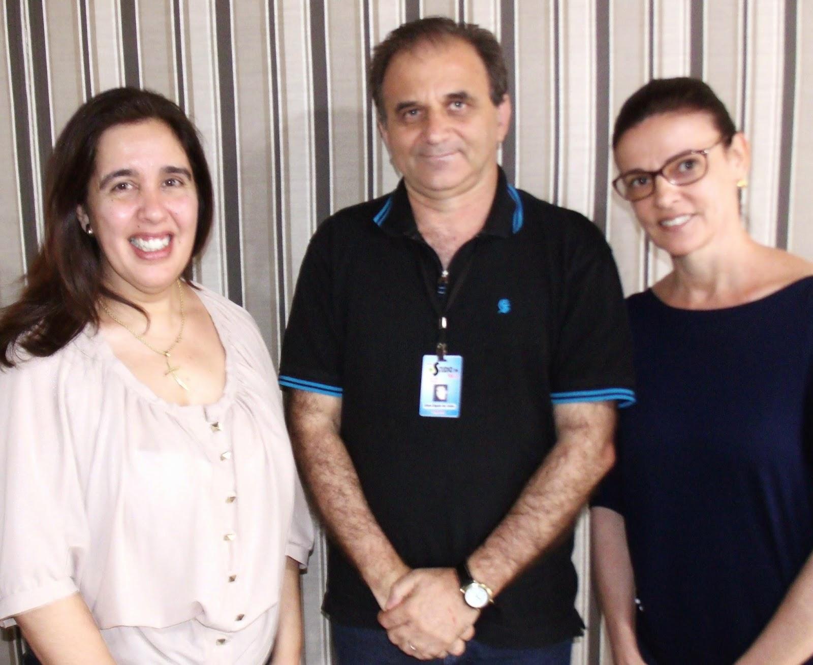 Airton Engster dos Santos, Cláudia Argiles da Costa e Ana Horn da Faculdade La Salle