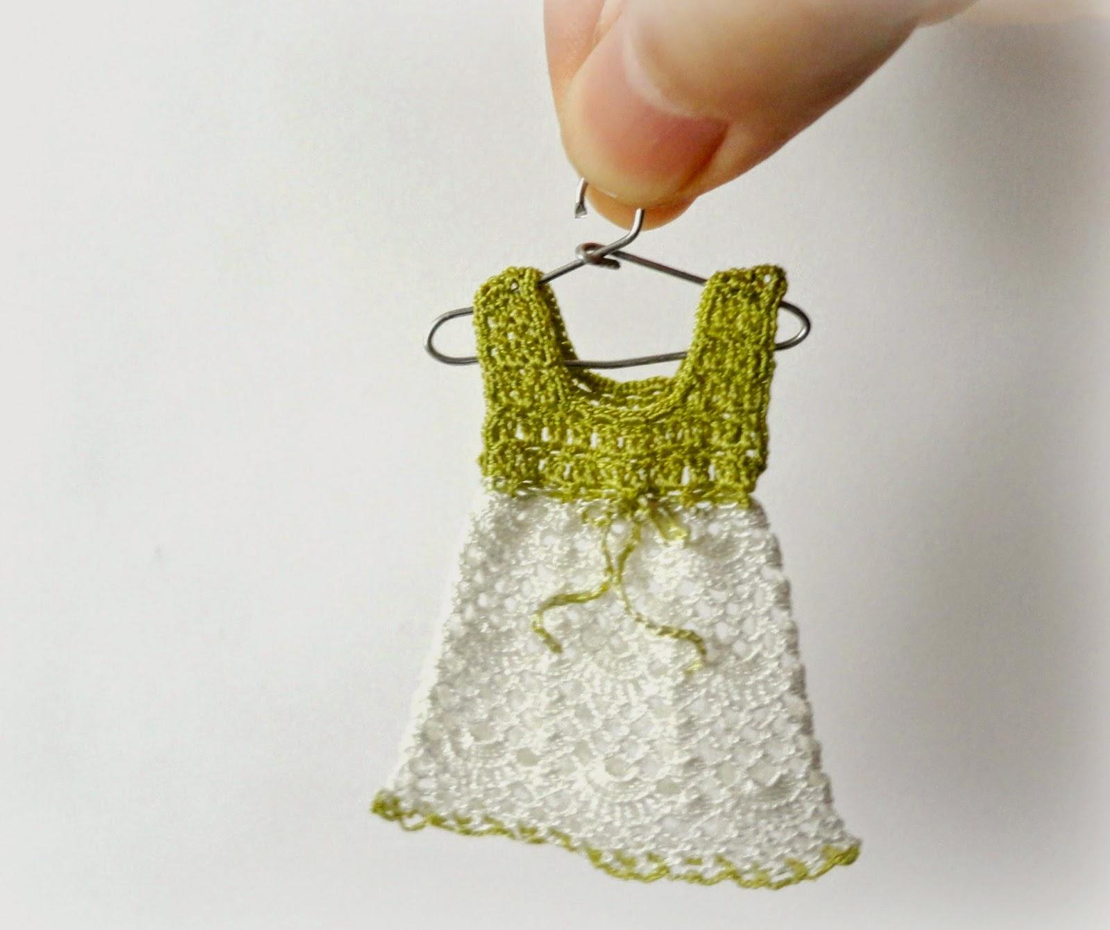 Miniature crochet dress