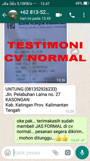 TESTIMONI PEMBELI JAS PENGANTIN/FORMAL CV NORMAL