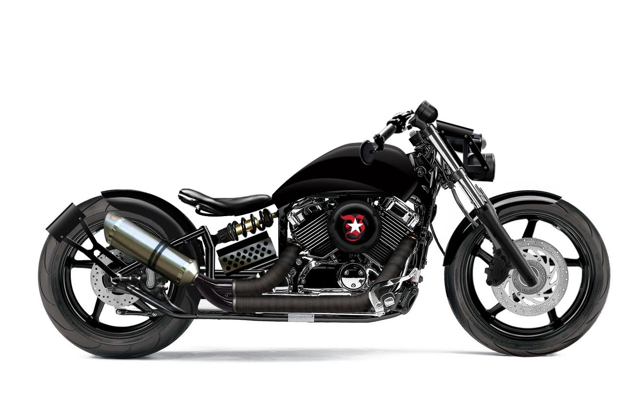 Free the wheels photoshop custom dragstar v star 650 for Yamaha v star 650 custom bobber kit