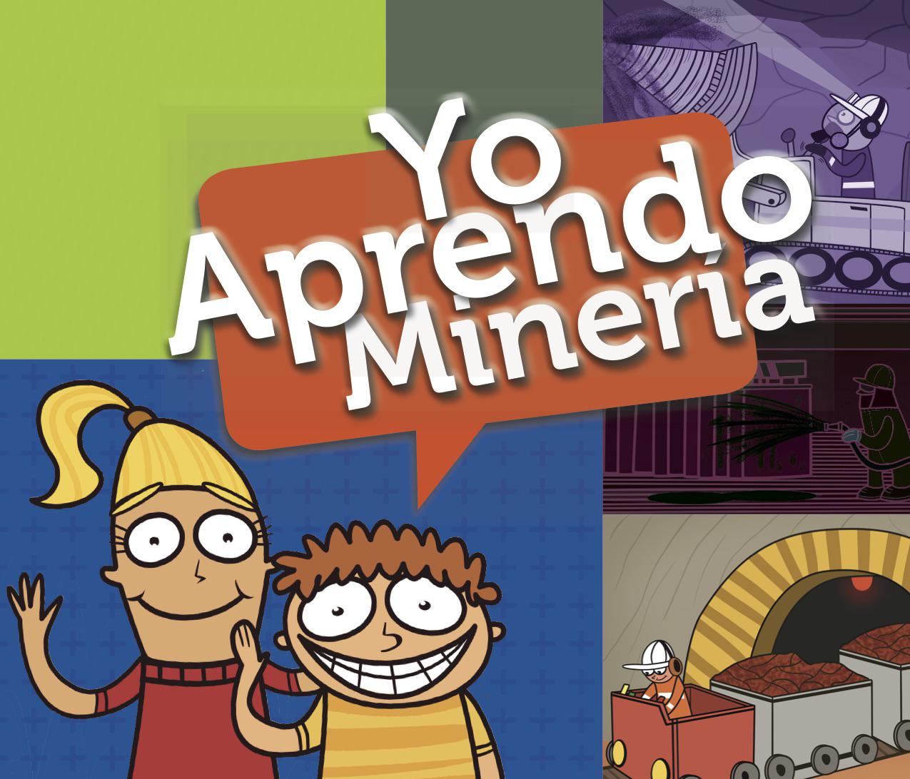 """Ilustraciones para segunda edición """"Pintado Aprendo Minería"""""""