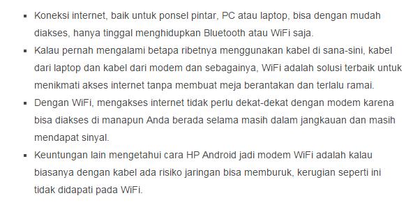 Cara Singkat Membuat HP Android Jadi Modem WiFi - Aplikasi Android