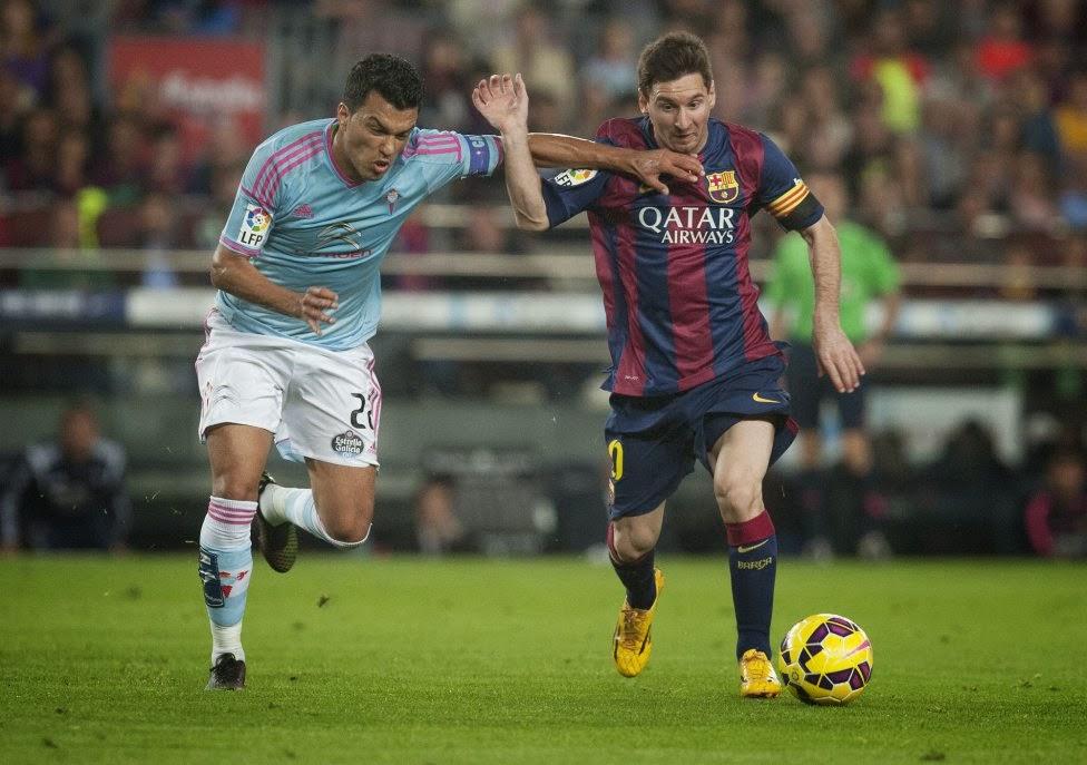 Capitanes de Celta y Barcelona, Camp Nou, noviembre 2014