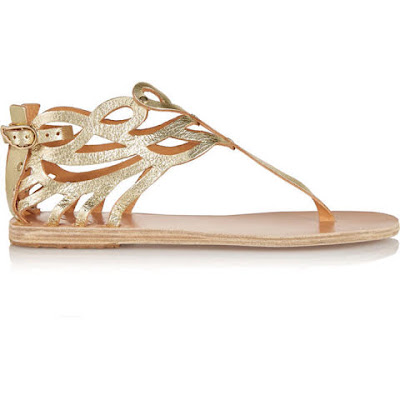 sandalia baixa dourada