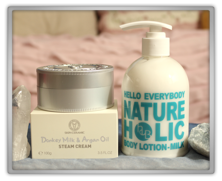 겟잇뷰티박스 by 미미박스 memebox beautybox # special #7 milk unboxing review preview box  hello everybody nature holic body lotion skin ceramic donkey argan steam cream