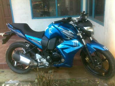 yamaha byson modif fairing biru
