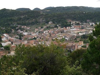 Vista de Monistrol de Calders des del Camí de Sant Pere Màrtir