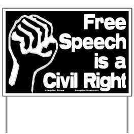 FREEDOM OF SPEECH IS A MUST