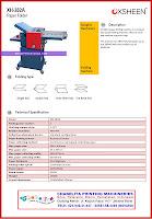 PAPER FOLDING MACHINE XH-382A | Spesifikasi Brosur