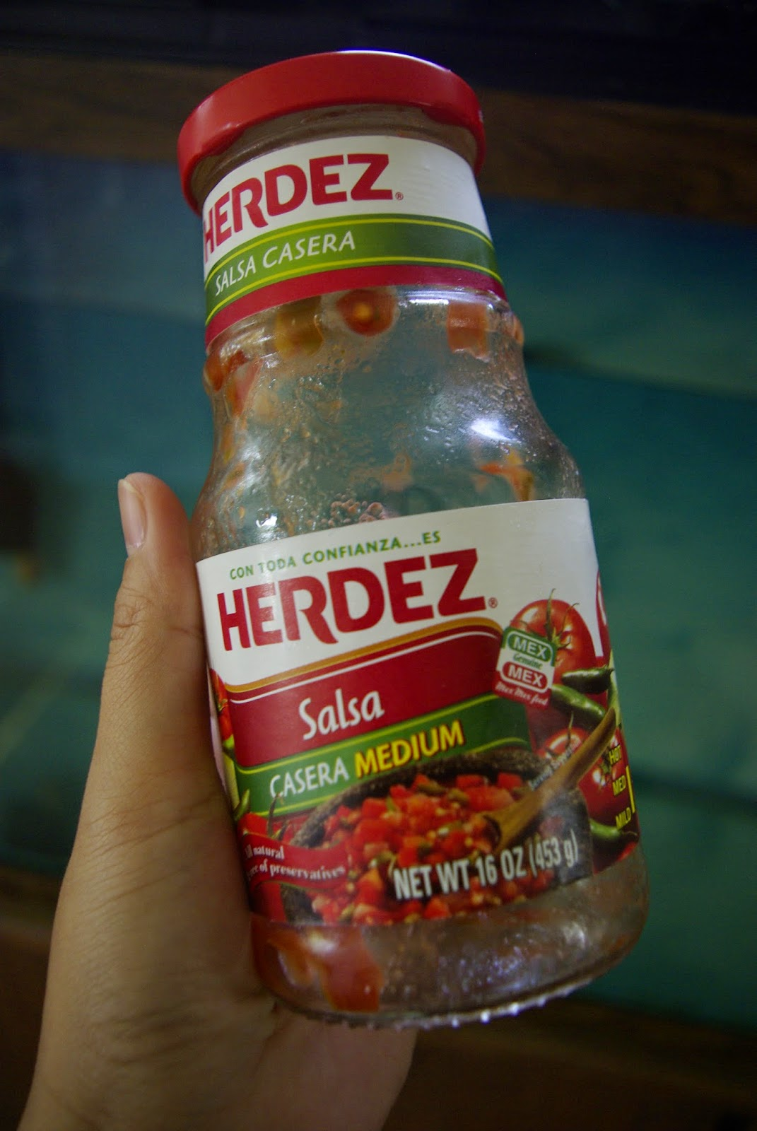 My Empty Bottle Herdez Medium Salsa :(