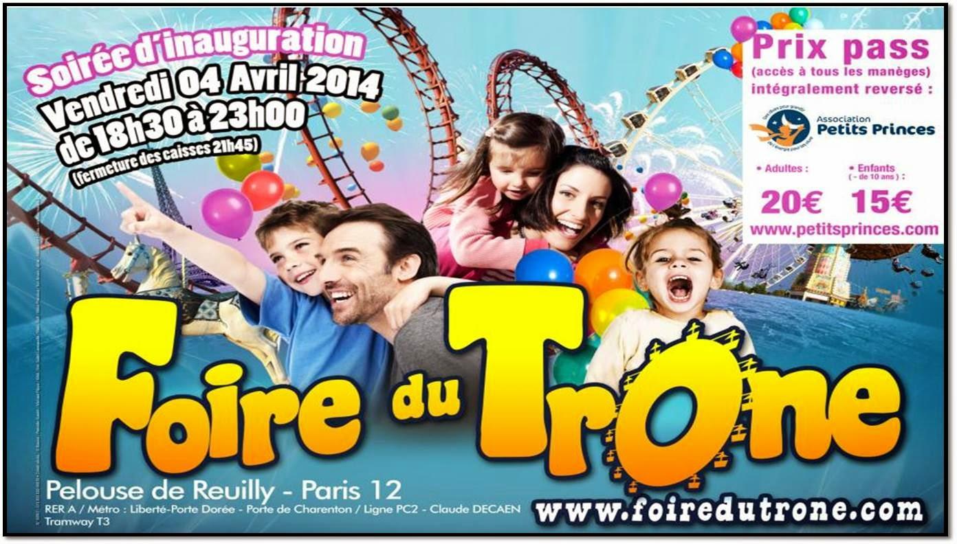 foire du trone manège paris Bois de Vincennes carnaval