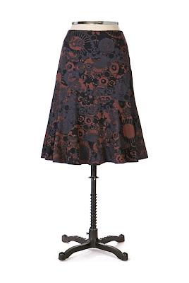 Anthropologie Pen & Ink Skirt
