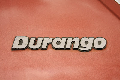 1981 Ford Durango pickup badge.
