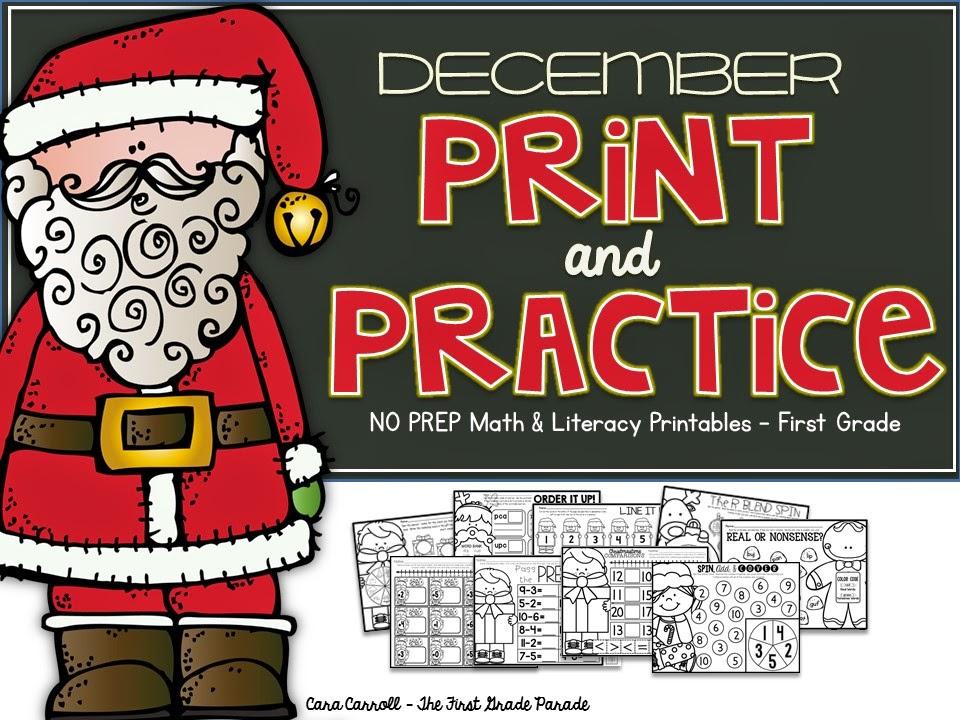 1st Grade NO PREP Math & Literacy Printables