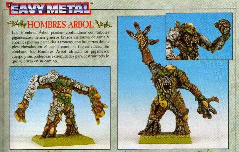 Hombres Árbol en 17 de la edición española de la revista White Dwarf de Julio/Agosto de 1996