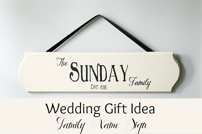 Wedding gift- Family name sign - The Inspired Hive